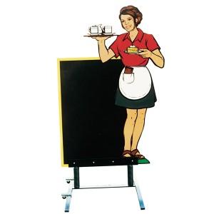 cameriera alla lavagna
