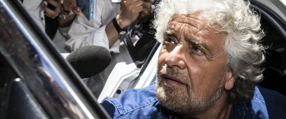 Beppe Grillo leaves hotel in Rome
